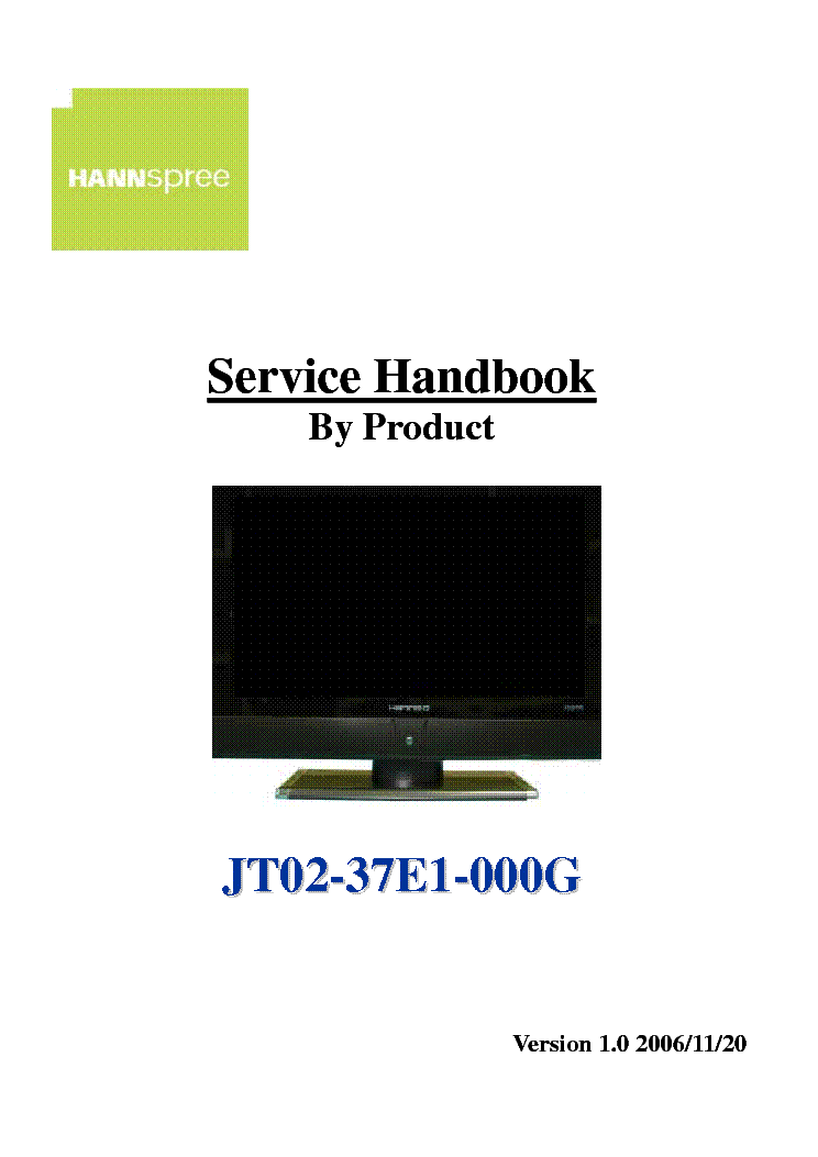 Hannspree manual download on